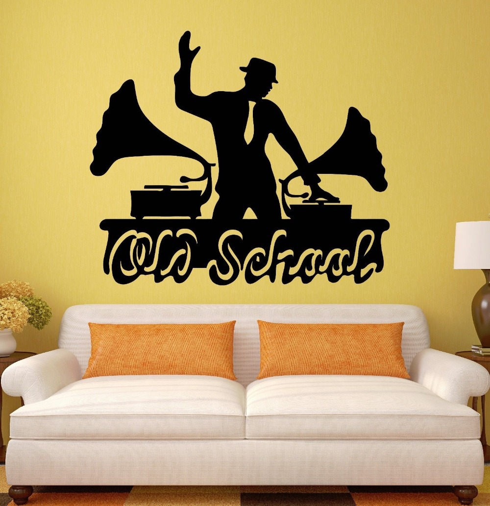 Wall Decal Jazz Blues Music Old School Vintage Vinyl Stickers-in ...