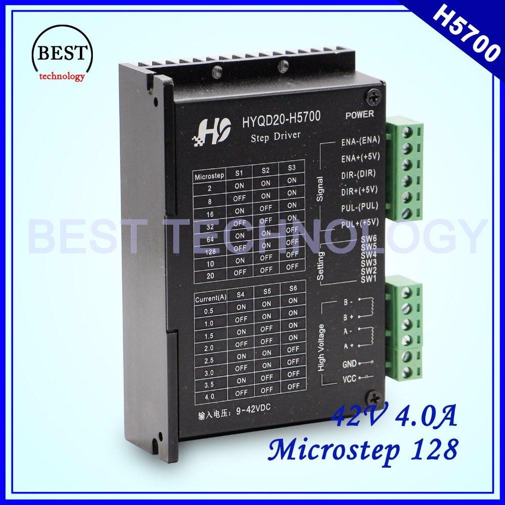 цена на Stepper Motor Driver H5700 Nema17 Nema23 Stepping Motor Driver 0.5-4A 9-42VDC stepping motor driver 128 micosteps