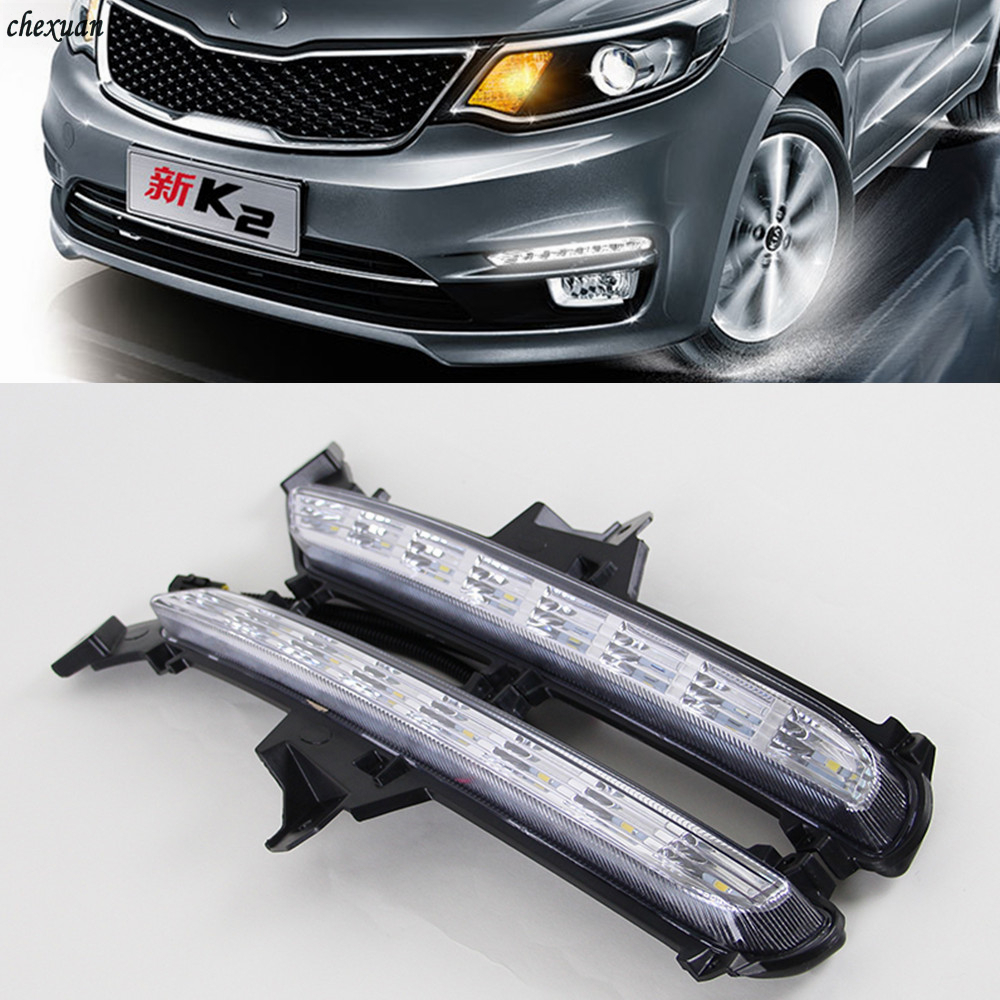 CSCSNL 1 Set Car LED DRL Daytime Running Lights 12V ABS Fog Lamp Cover With Turnning