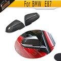 Tampas de cobertura de fibra de carbono espelho lateral do carro para bmw 1 series Série 3 E87 F20 F30 F35 hatchback seden 2011 ACIMA Não vagão