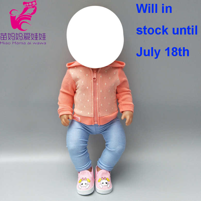 Одежда для куклы 18-дюймовая кукла пальто комплект одежды подходит для 43 см родился Baby Doll куртка платье подарки для детей
