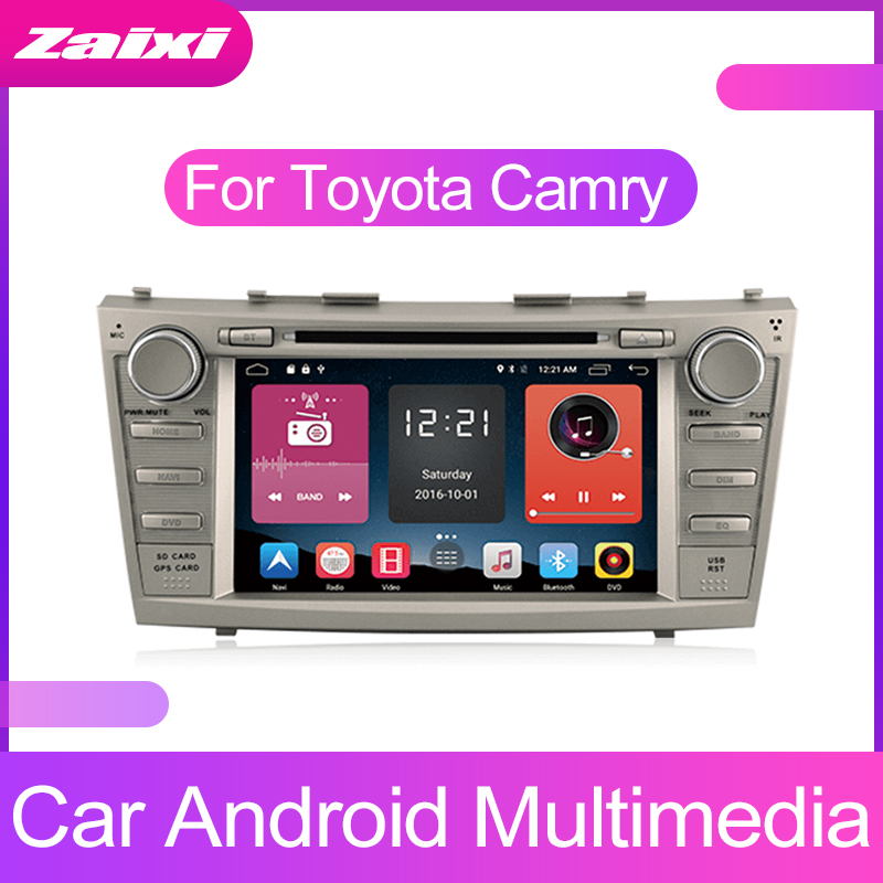 ZaiXi 9inch Touch screen Android car Audio for Toyota Camry 2006~2011 support GPS navi Ipod BT radio mic Media Navigation system