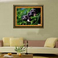 Diamond Painting 3d Diy The Diamond Embroidery Home Beautiful Animal Handicraft Inlay The Owl2 Diamond Mosaic