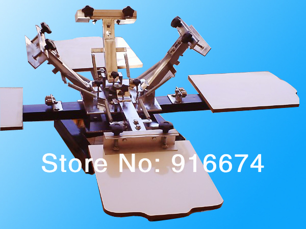 FAST FREE shipping 4 color 4 station silk screen printing machine t-shirt printer press equipment carousel flsun 3d printer big pulley kossel 3d printer with one roll filament sd card fast shipping