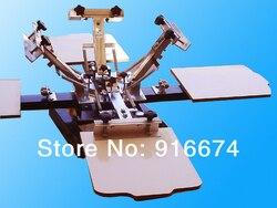 Fast free shipping 4 color 4 station silk screen printing machine t shirt printer press equipment.jpg 250x250