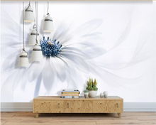 wallpaper Custom 3 d Photo Room Wallpaper Mural Fashion Nordic Background Floral White 3D Living
