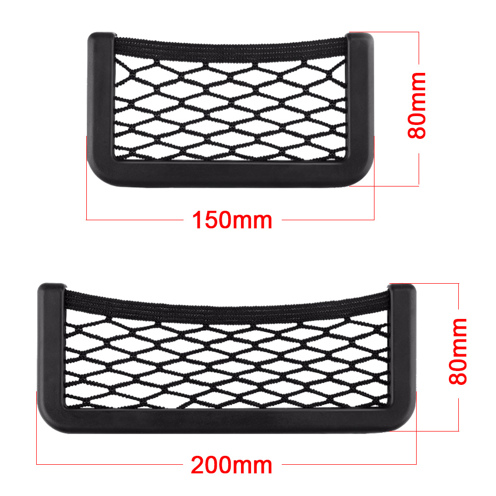 Universal Car Seat Side Back Storage Net Bag Phone Holder Pocket Organizer Stowing Tidying Auto Car Interior Accessories
