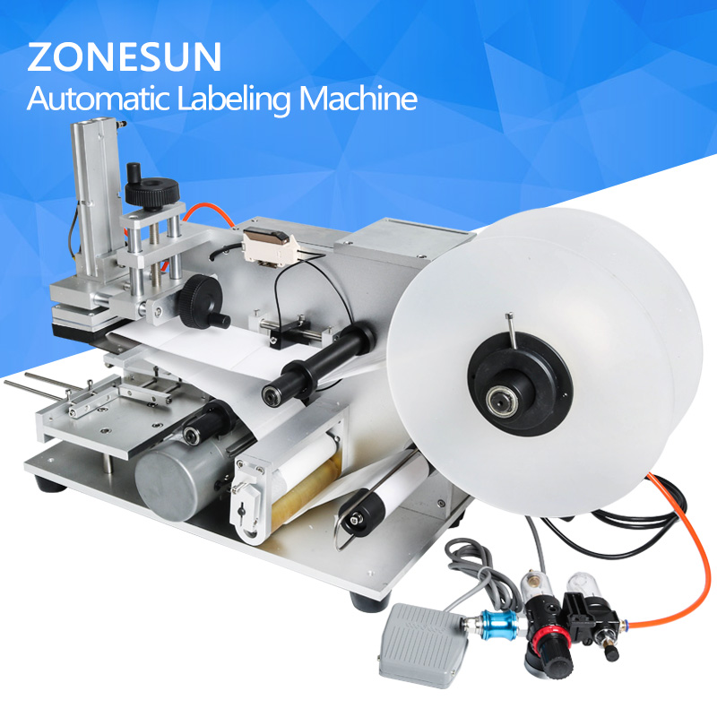 LT-60 Semi automatic Labeling Machine,drugs bottle labeling machine,medicine bottle labeling machine zonesun lt 50t semi automatic labeling machine drugs medicine bottle with date printer labeling machine for transparent sticker