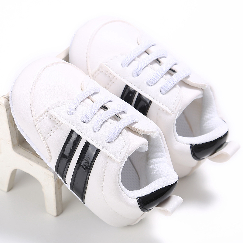Classic Infant Toddler Girls Baby Boys Shoes Striped Casual Kid First Walkers Sports Sneakers Tennis-Shoe