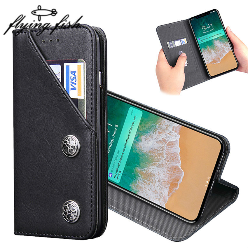 Luxury Leather Phone Case For <font><b>Iphone</b></font> X Card Holder Retro Wallet Etui Hoesje Flip Stand Cover For <font><b>Iphone</b></font> <font><b>8</b></font> 7 6 6S Plus Coque image