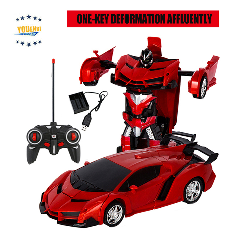 Image 4 - Transformer Car Robots Deformation Robot Remote Control Car with One Button Automatic Operation Realistic Engine Sounds-in RC Cars from Toys & Hobbies