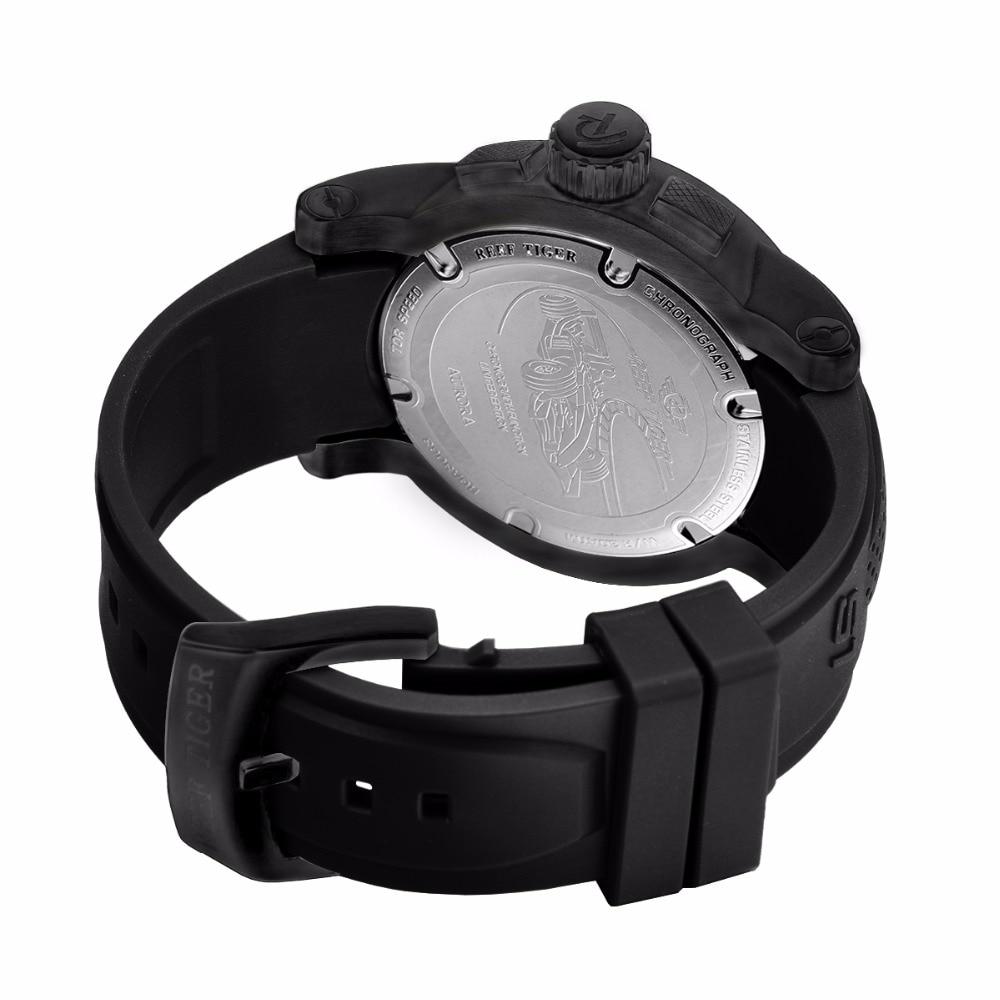 Reef Tiger / RT Sport quartz horloge met chronograaf datum Zwart - Herenhorloges - Foto 5