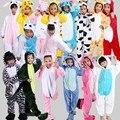 Hot Niños Dinosaurio Onesie Unicornio Unisex Niños Niñas Warm Soft Cosplay Animal Pijamas ropa de Dormir En Casa de Disfraces de Halloween