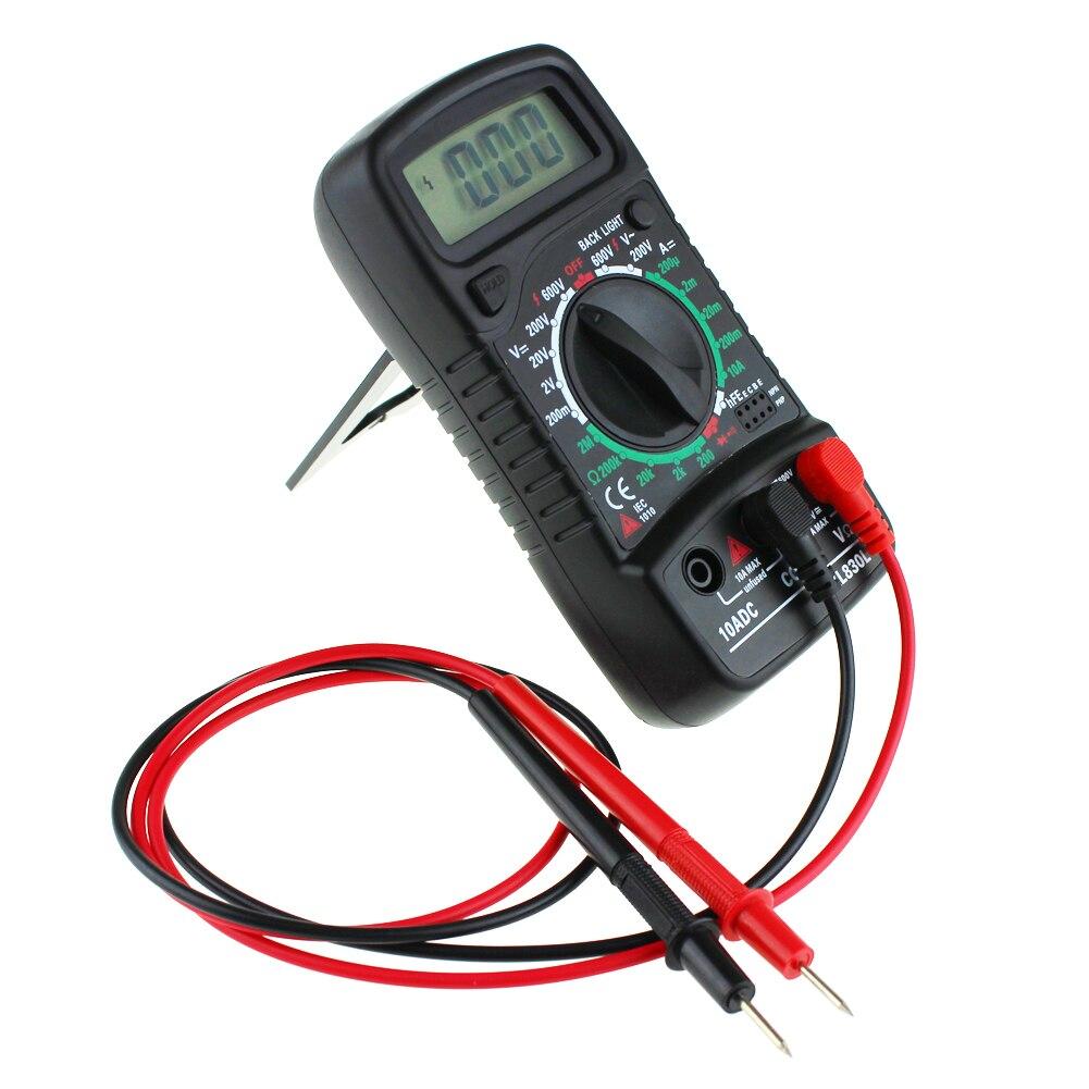 XL830L AC DC OHM Multim/ètre Voltm/ètre Num/érique Digital Testeur Circuit D/étecteur Noir Jaune