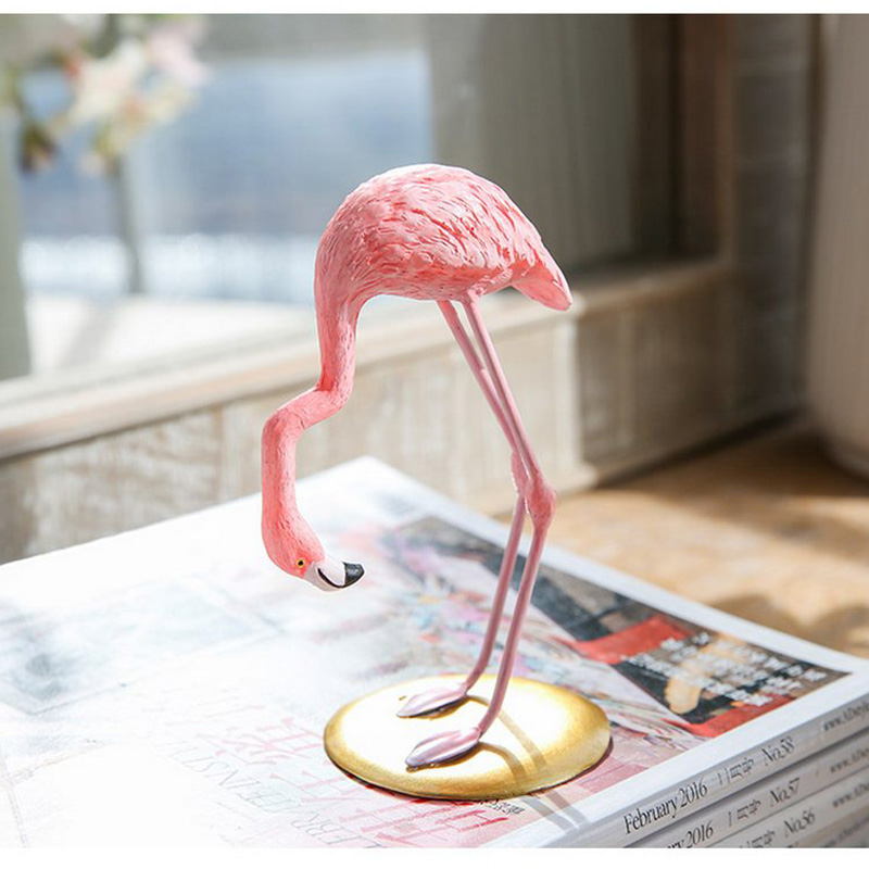 High Quality Resin Pink Flamingo Decor For Home Decoration Accessories Sculpture Figurine Gifts Wedding Supplies Home Decor (11)