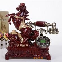 Craft antique telephone fixed wired telephone landline telephone caller retro style цена и фото