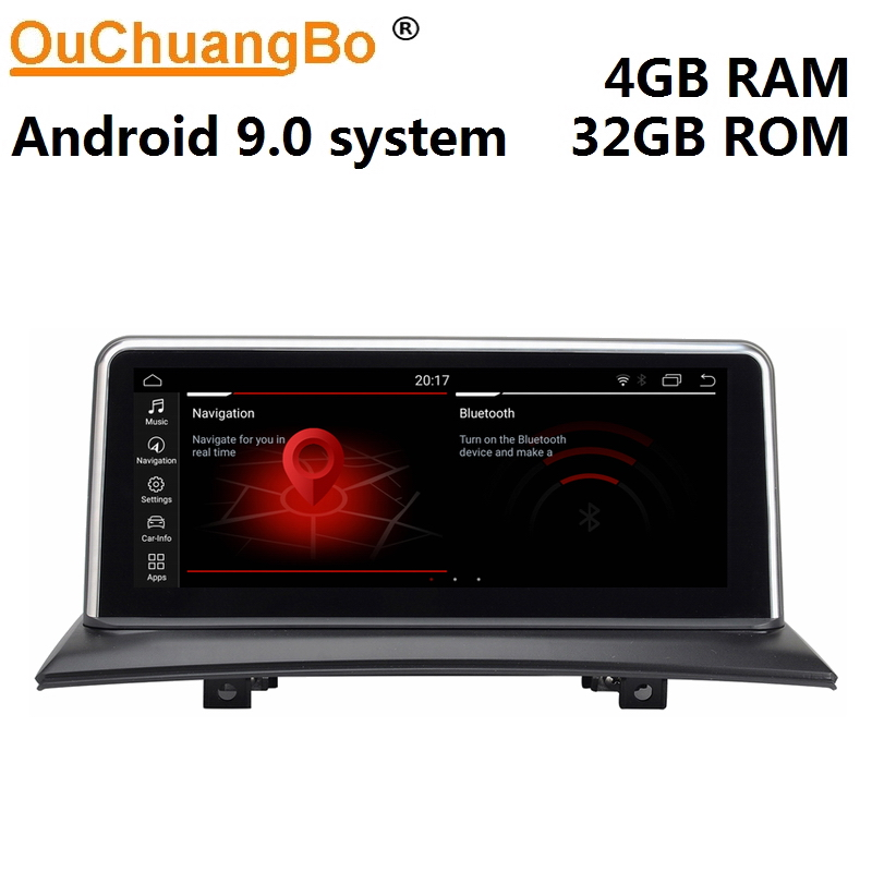 Ouchuangbo android 9.0 media player radio für <font><b>X3</b></font> <font><b>E83</b></font> 2004-2009 gps navigation 10,25 zoll 6 core 4GB RAM 32GB ROM image