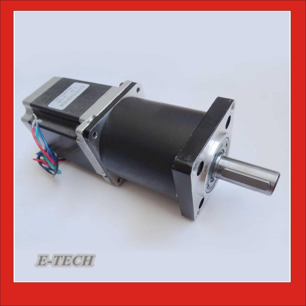 Nema23 Planetary Gearbox Stepper Motor Gear Ratio 15 20 25 30 40 50 100 :1 NEMA23 Motor Length 112 mm nema23 geared stepping motor ratio 50 1 planetary gear stepper motor l76mm 3a 1 8nm 4leads for cnc router