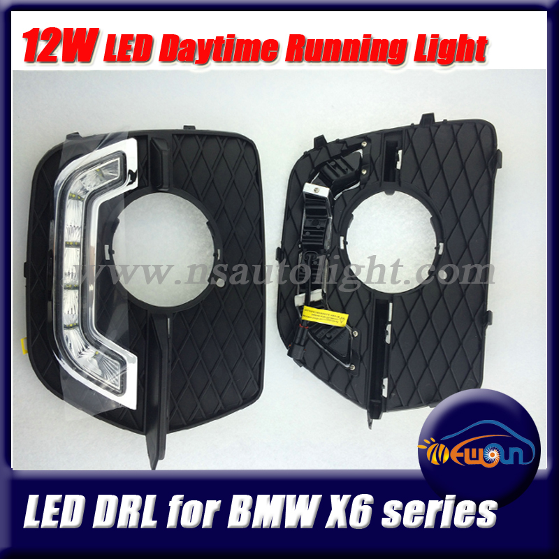 1 pair  CREE  led chips DRL LED Car Parking LED DRL Daytime Running Light Auto Lamp For BMW E71 Car Driving Light Fog Lamps  1 pair 2000lm 20w cree chips drl led eagle eye car fog daytime running reverse backup parking light lamp ip67 waterproof