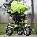 2017 Genuino Nuevo Cobertizo Lleno Bebé Carro Triciclo Niño Bebé Bicicleta Cochecito de Bebé Moto Carro Para 6 Meses-6 años de Edad