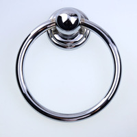 Diameter 70mm Modern Simple Shiny Silver Drop Rings Wooden Chair Wooden Door Handles Chrome Kitchen Cabinet