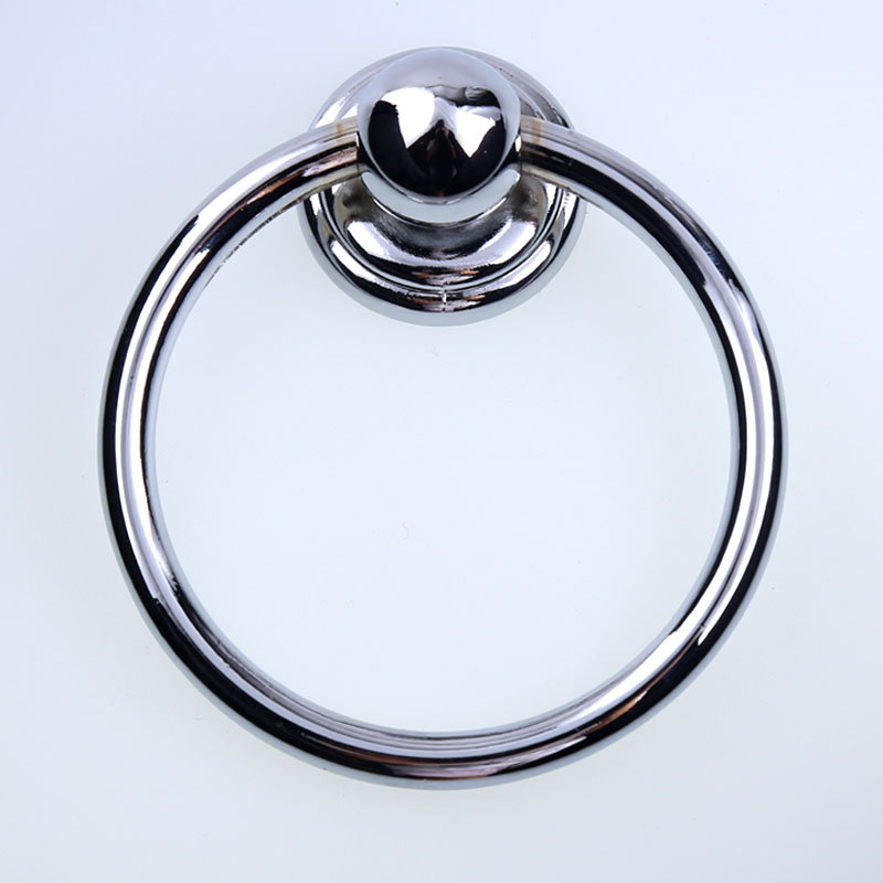 Diameter 70mm modern simple shiny silver drop rings wooden chair wooden door handles chrome kitchen cabinet drawer pulls knobs modern fashion simple circular wooden handle aluminum lid chandelier made of iron painting diameter 50cm ac110 240v