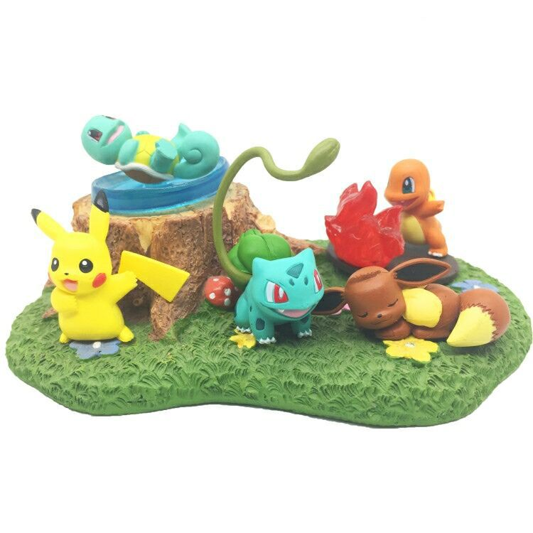 NEW hot 5cm 5pcs/set Pikachu Eevee Squirtle Bulbasaur Charmander action figure toys Christmas gift toy new hot 14cm pikachu gary oak okido green eevee action figure toys collection christmas gift doll with box