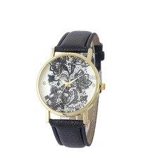 Qualidade superior 2015 das Mulheres da Moda Relógios Senhoras Relógio Vestido Lace Impressão 100 pçs/lote Atacado