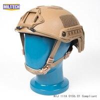 ISO Certified MILITECH 1.3KG Lite CB Super High Cut Aramid Ballistic Helmet Light Weight SWAT Bulletproof Helmet DEVGRU SEAL