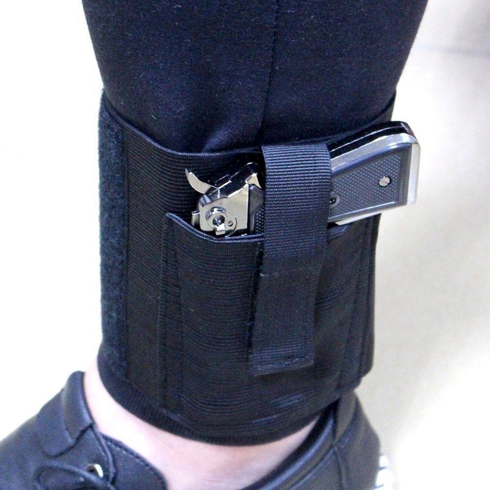 Concealed Carry Universal Pistol Ankle Holster Right Left Ankle Pistol Gun Holster for Medium Small Pistols