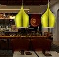 Modernen minimalistischen Restaurant Bar Cafe kreative persönlichkeit farbe cafe bar esstisch D 26 cm einzelkopf kleine pendelleuchte-in Pendelleuchten aus Licht & Beleuchtung bei