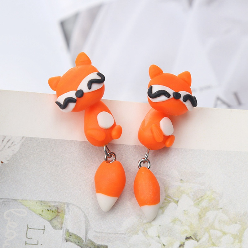 Fashion Cute Cartoon Animal Stud Earrings Soft Ceramic Material Jewelry Gift Earrings For Ladies Girls