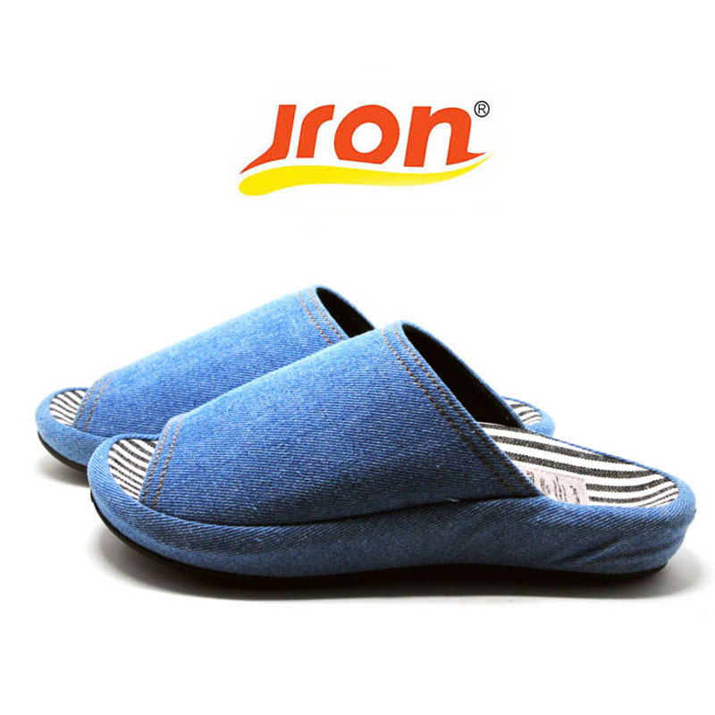 Jron Frühling Herbst Frau Slipper Zehen Ausgesetzt Haushalt Baumwolle Sofa Stoff Slipper Wasserdicht Anti-Rutsch-Sohle Männer Indoor Slipper