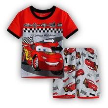 Купить с кэшбэком 6 Design New cotton car mobilization home service children's clothing summer suit air conditioning suit cartoon pajamas