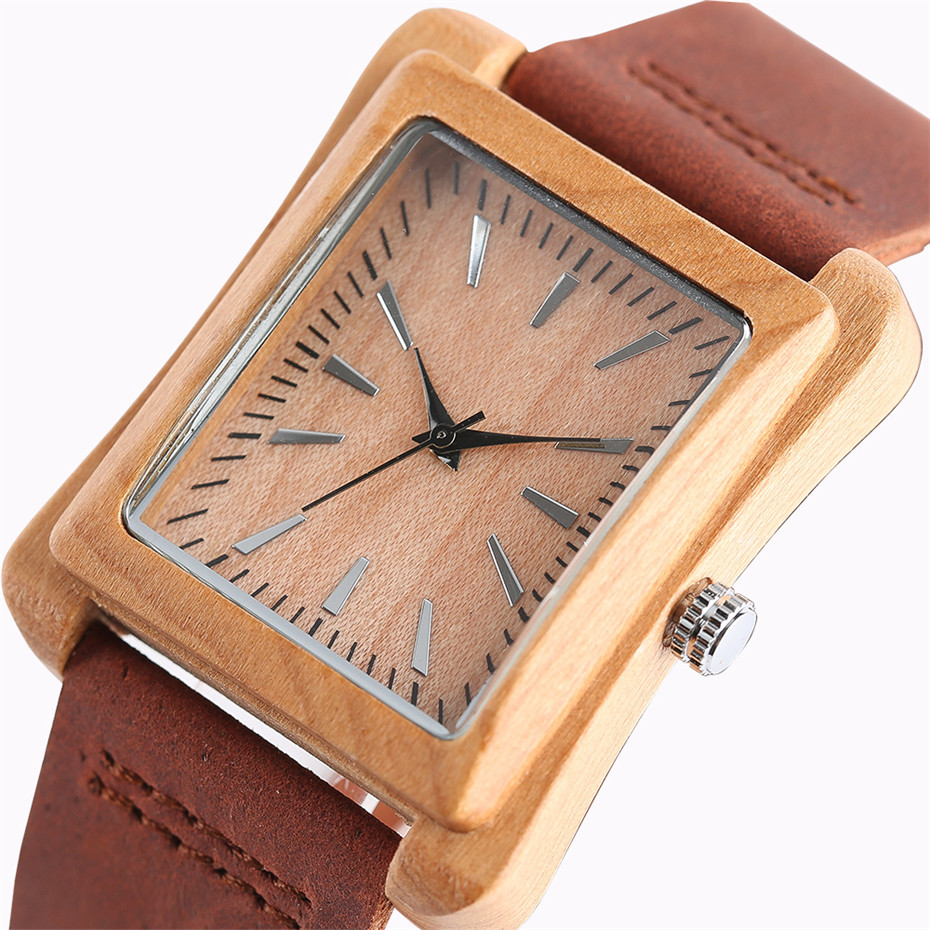 genuine leather band nature wood watch17
