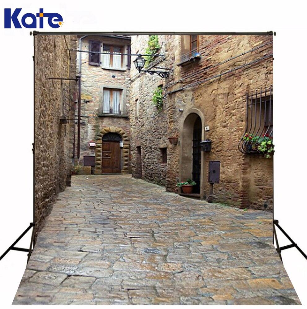 300 Cm * 200 Cm (environ 10Ft * 6.5Ft) Kate Street arrière-plan vieille pierre route 3D bébé photographie arrière-plan pour mariage