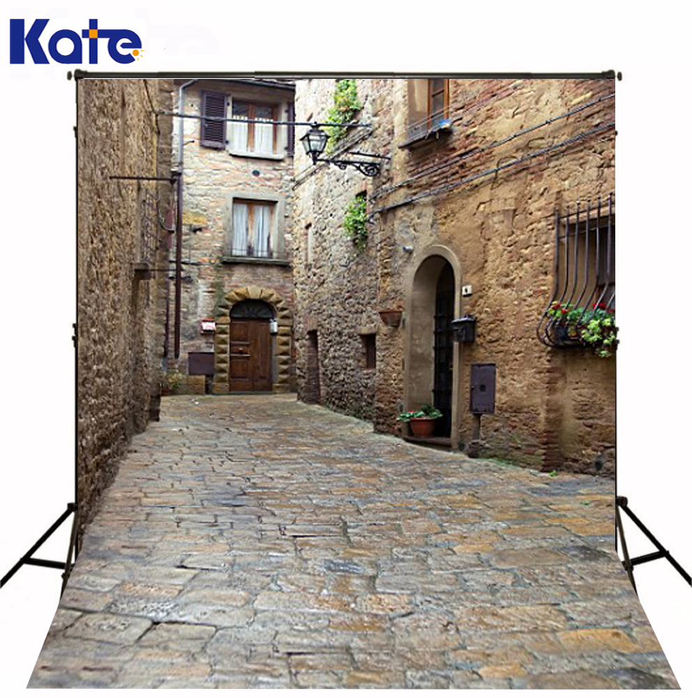 300Cm*200Cm(About 10Ft*6.5Ft) Kate Street Background Old Stone Road 3D Baby Photography Backdrop Background For Wedding 300cm 200cm about 10ft 6 5ft backgrounds heart shape of water droplets photography backdrops photo lk 1529 valentine s day