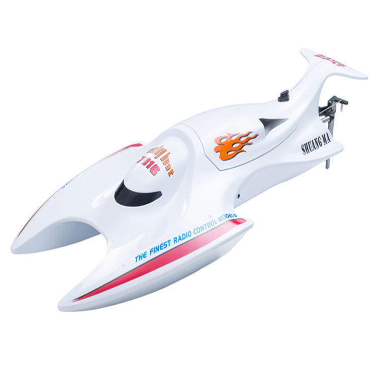 2017 hot sell summer electric children RC high speed boat 7016 2.4G 45cm large water waterproof rc racing boat model toy for kid aluminum water cool flange fits 26 29cc qj zenoah rcmk cy gas engine for rc boat