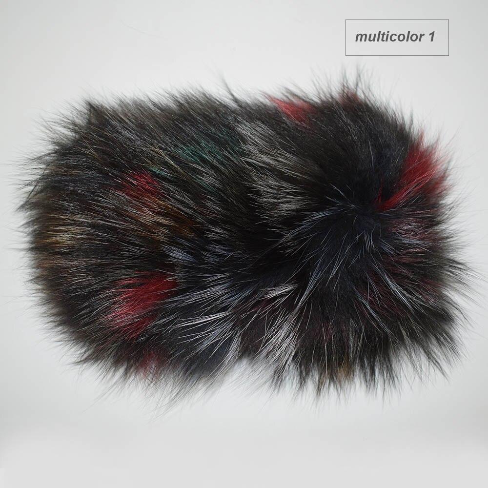 fox fur headband multicolor1