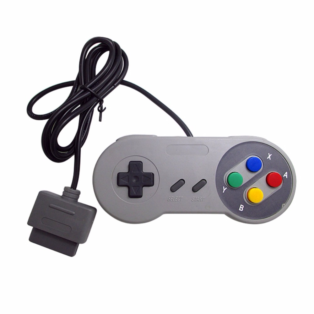 Portable Game Controller 16 Bit for Super Nintendo SNES System Console Control Pad image