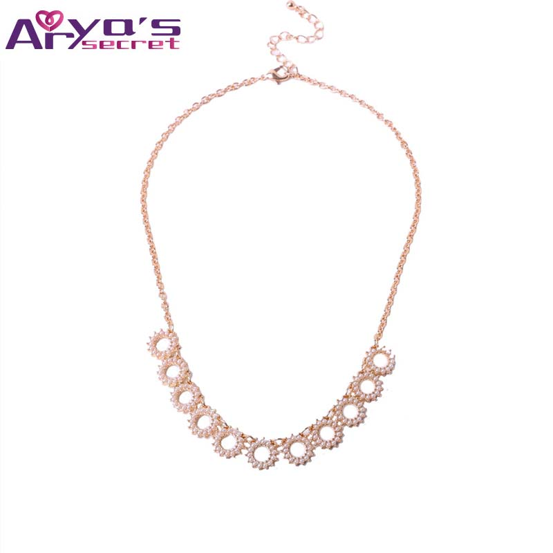 2017 New Big Flower Choker Necklace Statement Stone Alloy Gold Color Chokers Fashion Pendants Part Necklace