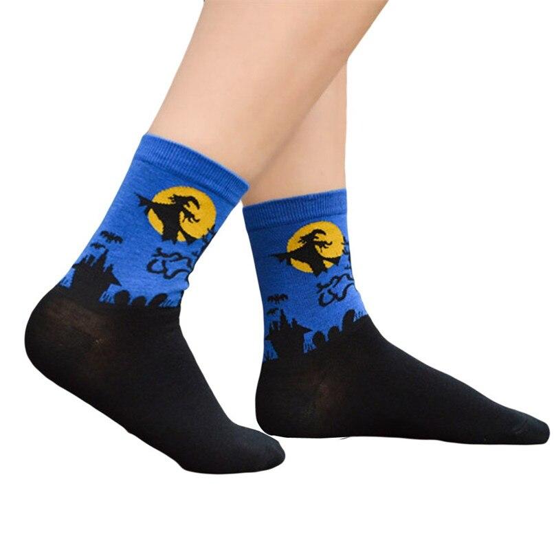 Women's Fashion Sports Socks Medium Work Business Socks Halloween printed Coral Fleece socks Highly elastic warm socks #2s26 (5)