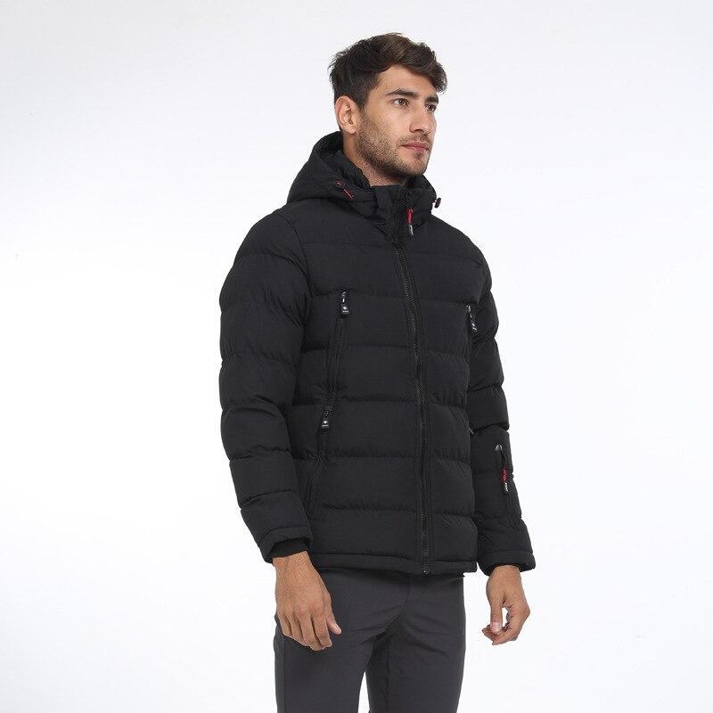 Siamese Cap Men Cutton Parkas 2019 New Fashion Winter Loose Thermal Solid Color Overwear Warm Men Coat Zippes Casual Warm Parkas