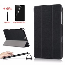 Stand Leather Case For Samsung Galaxy Tab A 9.7 inch SM-T550 SM-P550 SM-T555 SM-P555 Tablet Protective Smart Cover + Stylus Film smart case for samsung galaxy tab a 9 7 t550 t555 p550 sm t550 sm t555 cover slim stand pu leather case for samsung tab a 9 7