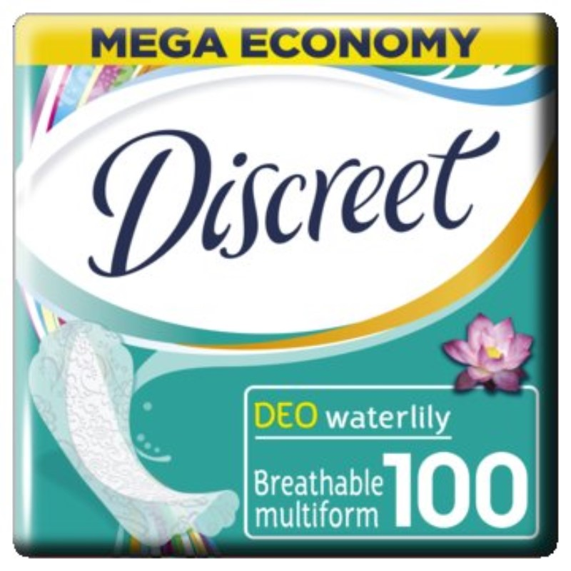 DISCREET Women's sanitary pads for every day Deo Water Lily Multiform 100pcs 100pcs lot ka2284