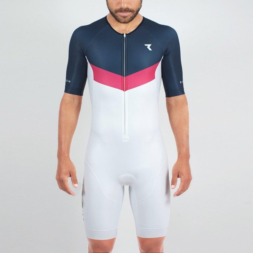 body ryzon 2018 custom lycra skin suit red triathlon summer cycling breathable swimwear uci road bike team 9d pad run sport wear