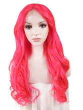 Wavy cosplay wigs  24 inches Synthetic Lace Front wig Heat Resistant Fiber hair For Women Imstyle