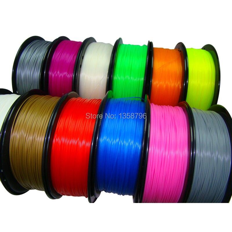 filamento de impresora de cor azul 3d PLA / ABS 1.75mm / 3mm 1kg Material de consumo MakerBot / RepRap / UP / Mendel Venda quente
