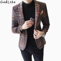 2016 Men S Clothing Male Fashion Male Slim Suit Blazer Outerwear X46 P145