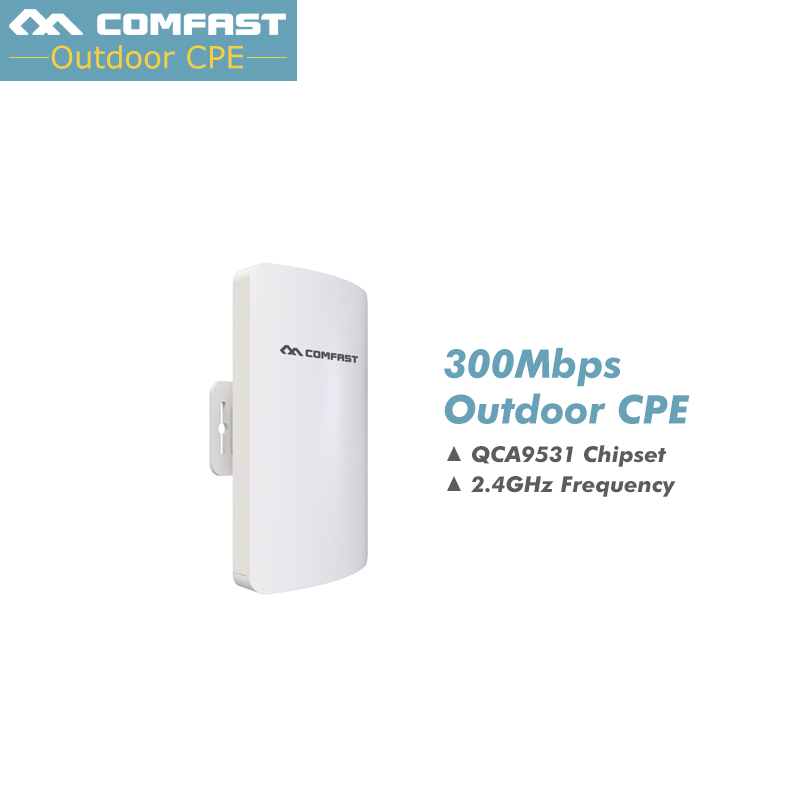 Prix pour 2017! 300 Mbps Extérieure CPE 2.4G wi-fi Ethernet Point D'accès Wifi Pont Sans Fil Range Extender Routeur CPE Avec POE WIFI AP Routeur